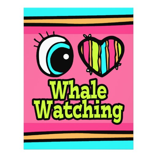 Bright Eye Heart I Love Whale Watching Full Color Flyer
