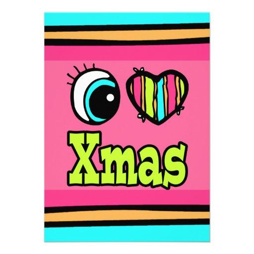 Bright Eye Heart I Love Xmas Invitations