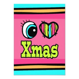 Bright Eye Heart I Love Xmas 11 Cm X 16 Cm Invitation Card