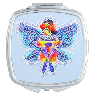 Bright Fairy compact Vanity Mirror