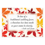 Bright Fall Leaves Wedding Charity Favour Card Business Card Templates