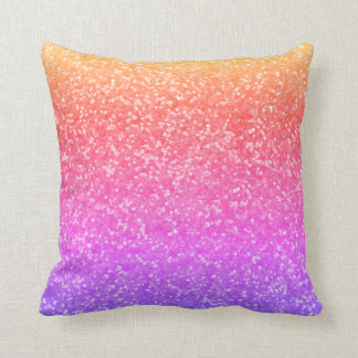 Bright Faux Glitter Glamour Sparkly Sparkles Glam Cushion