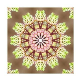 Bright Faux Knitted Mandala Gallery Wrap Canvas
