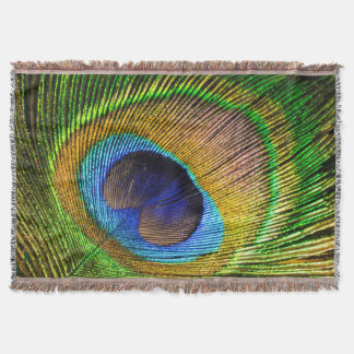Bright Feather Throw Blanket