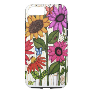 Bright Fence Flowers iPhone 7 Case