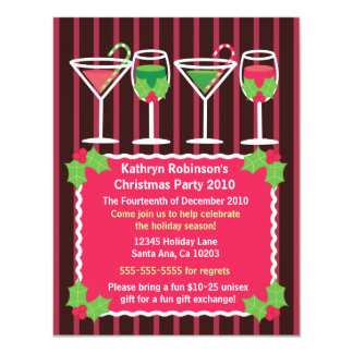 Bright Festive Christmas Party Invitation
