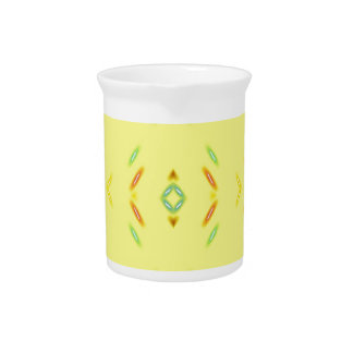 Bright Festive Yellow Pattern Pitcher