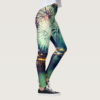 Bright Fireworks Leggings