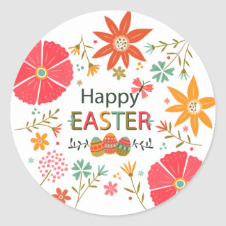 Bright Floral Easter Background Sticker