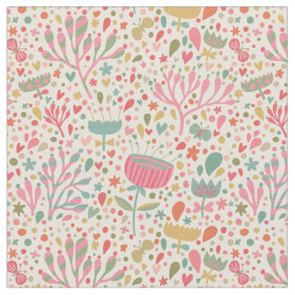 Bright floral pattern fabric
