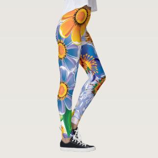 Bright Floral Pattern Leggings
