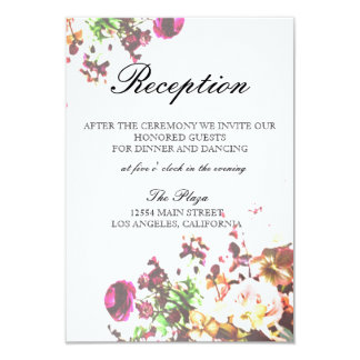 Bright Floral Reception Card