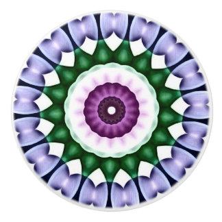 Bright Flower Kaleidoscope with Chrome Overlay Ceramic Knob