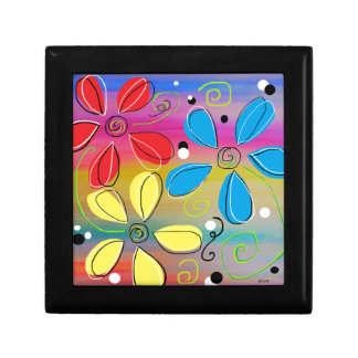 Bright Flowers Intertwined Gift Box