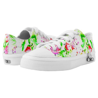 Bright Flowers Low Tops