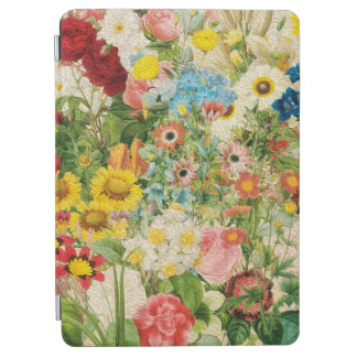 Bright Flowers Painting Collage iPad Air Cover