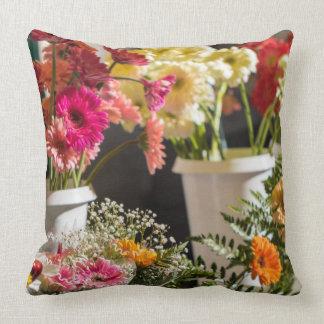 Bright flowers pillow, cushion