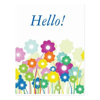 Bright Flowers Postcard