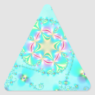 Bright Fractal Art Triangle Sticker