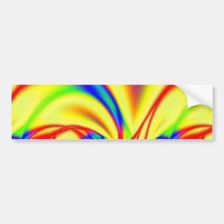 Bright Fractal Bumper Sticker