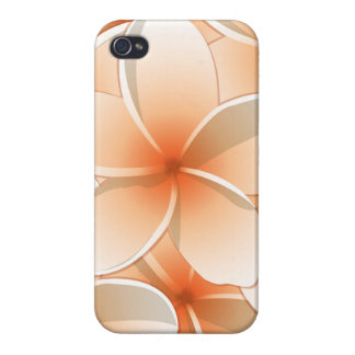 Bright Frangipani/ Plumeria flowers Case For iPhone 4