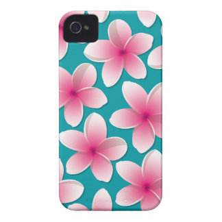 Bright Frangipani/ Plumeria flowers Case-Mate iPhone 4 Cases