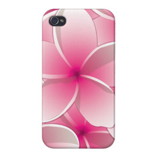 Bright Frangipani/ Plumeria flowers Cases For iPhone 4