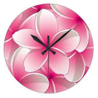Bright Frangipani/ Plumeria flowers Clocks