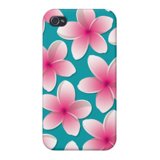 Bright Frangipani/ Plumeria flowers Covers For iPhone 4
