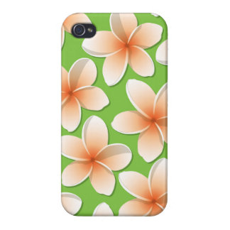 Bright Frangipani/ Plumeria flowers iPhone 4/4S Cases