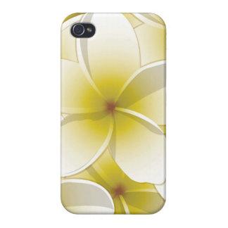Bright Frangipani/ Plumeria flowers iPhone 4 Case