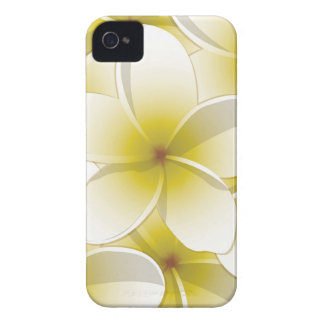 Bright Frangipani/ Plumeria flowers iPhone 4 Case-Mate Cases