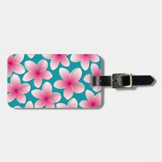 Bright Frangipani/ Plumeria flowers Luggage Tag