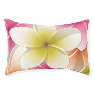 Bright Frangipani/ Plumeria flowers Pet Bed