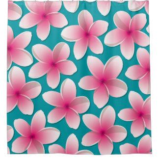Bright Frangipani/ Plumeria flowers Shower Curtain