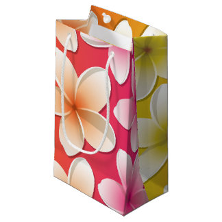 Bright Frangipani/ Plumeria flowers Small Gift Bag