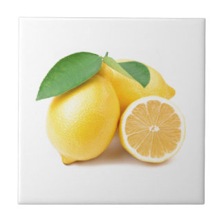 Bright & Fresh Yellow Lemons Ceramic Tile