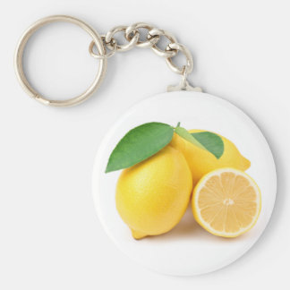 Bright & Fresh Yellow Lemons Key Ring