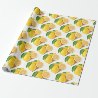 Bright & Fresh Yellow Lemons Wrapping Paper