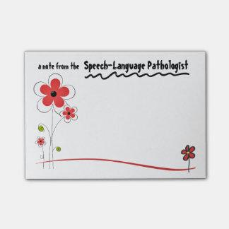 Bright Friendly Speech Pathologist Post-it Notes
