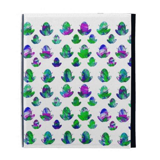 Bright Frogs iPad folio iPad Folio Covers