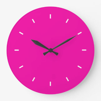 Bright Fuchsia Durable Complementary Color Large Clock