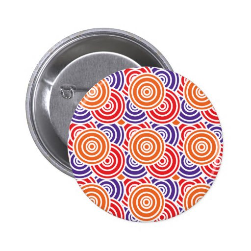 Bright Fun Concentric Circle Pattern Gifts Pinback Button