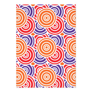 Bright Fun Concentric Circle Pattern Gifts Custom Announcements