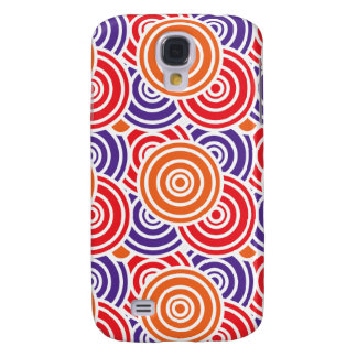 Bright Fun Concentric Circle Pattern Gifts Samsung Galaxy S4 Cover