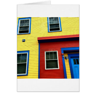 Bright & Fun Houses Greeting Card