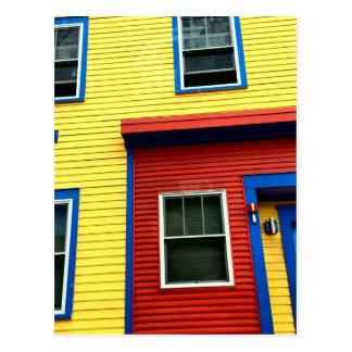 Bright & Fun Houses Postcard