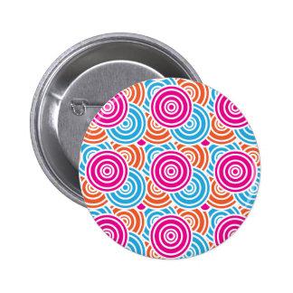 Bright Fun Layered Concentric Circles Pattern Gift Pins