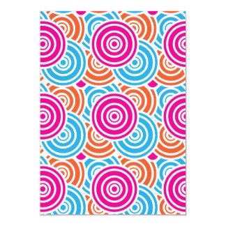 Bright Fun Layered Concentric Circles Pattern Gift Personalized Invitation