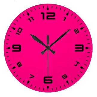Bright Fun Magenta Pink Large Clock